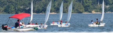 Opti kids sailing on the Notheast River MD
